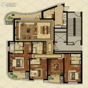 金地棕榈岛4室2厅3卫208平方米户型图
