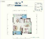 世康世纪城2室2厅1卫75平方米户型图