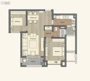 仁恒棠悦湾2室2厅1卫90平方米户型图