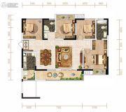 芙蓉・四季花城4室2厅2卫120平方米户型图