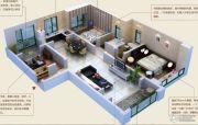 颐和山庄3室2厅2卫136--139平方米户型图