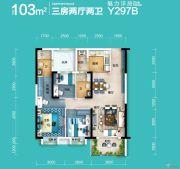 碧桂园・公园壹号3室2厅2卫103平方米户型图