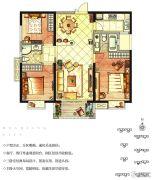 华强城3室2厅2卫109平方米户型图