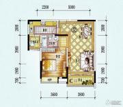 保利西海岸1室1厅1卫77平方米户型图