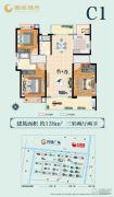 南通国城�Z府3室2厅2卫138平方米户型图