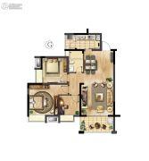 万科红郡3室2厅1卫94平方米户型图