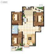 江南鸿郡3室2厅1卫120平方米户型图