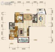 东星・熙城2室2厅2卫104--105平方米户型图