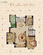 重庆桃源居国际花园3室2厅2卫130平方米户型图