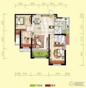 天居锦河丹堤3室2厅2卫108平方米户型图