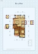 中国铁建・德信君宸3室2厅2卫89平方米户型图