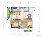 昆明广场3室2厅1卫96平方米户型图