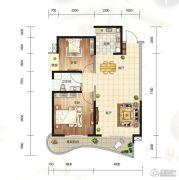 大都金沙湾2室2厅1卫87--88平方米户型图