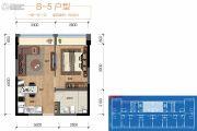 保利锦江里1室1厅1卫48平方米户型图