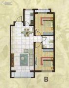 欧典・宏峪2室2厅1卫97平方米户型图