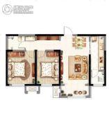 意境兰庭2室2厅1卫85平方米户型图