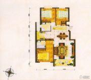 东方夏威夷3室2厅2卫118--125平方米户型图