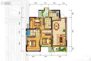 格林城3室2厅2卫95平方米户型图
