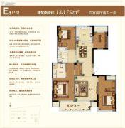 苏州绿城春江明月4室2厅2卫138平方米户型图