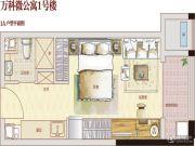 万科金色城市1室1厅1卫0平方米户型图