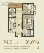 丽彩・溪悦城2室2厅1卫70平方米户型图