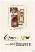 凌宇犀地3室2厅1卫114平方米户型图