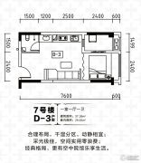 中冶城邦国际1室1厅1卫37平方米户型图