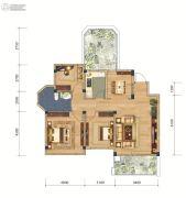 联投国际城3室2厅1卫105平方米户型图