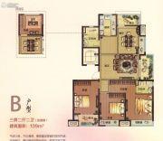 伟星幸福里3室2厅2卫139平方米户型图