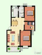 泉韵兰亭3室2厅1卫110平方米户型图