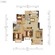 远洋世界三期水岸一方3室2厅2卫106平方米户型图