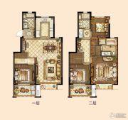 旭辉银城白马澜山4室2厅3卫130平方米户型图