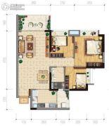 保利西悦湾3室2厅1卫87平方米户型图