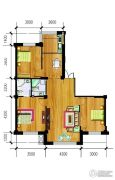 万泉・欧博城3室2厅2卫118平方米户型图