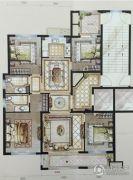 中梁・首府壹号4室2厅2卫135平方米户型图