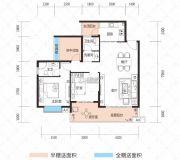 云鼎・天阙1室2厅2卫98--116平方米户型图