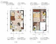 碧桂园东江月3室2厅2卫0平方米户型图