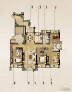 保利原乡4室2厅2卫168平方米户型图