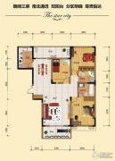 金江星城3室2厅2卫122平方米户型图