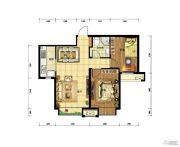 中国铁建・青秀尚城2室2厅1卫76平方米户型图