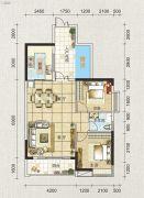 海天瑶2室2厅1卫85平方米户型图