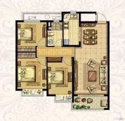 恒大御景湾3室2厅1卫108平方米户型图