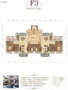 骧龙国际二期3室2厅2卫125平方米户型图