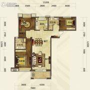 华发首府3室2厅2卫142平方米户型图