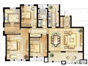 华润橡树湾3室2厅2卫170平方米户型图