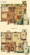 中海国际社区4室2厅2卫180平方米户型图