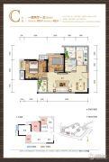 财信渝中城1室2厅1卫61平方米户型图