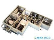 宿迁中央广场2室2厅1卫124平方米户型图