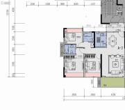 中国铁建贵安山语城3室2厅2卫0平方米户型图