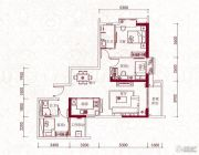 嘉兰轩3室2厅2卫117平方米户型图